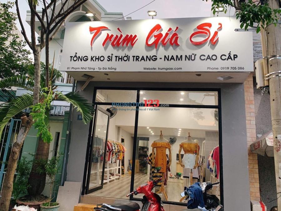 Cho thuê nhà nguyên căn mặt tiền 81 Phạm Nhữ Tăng, Thanh Khê, Đà Nẵng. Giá 8tr/tháng