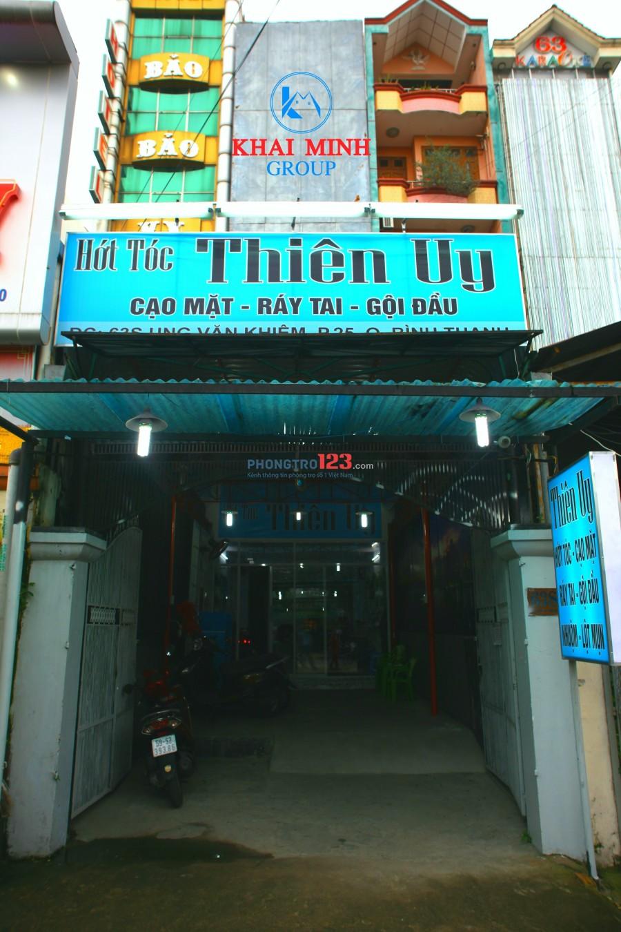 Mặt bằng 180m2, khu vực sầm uất, có 2 phòng ở lại 63S Ung Văn Khiêm, gần Hutech, Bình Thạnh