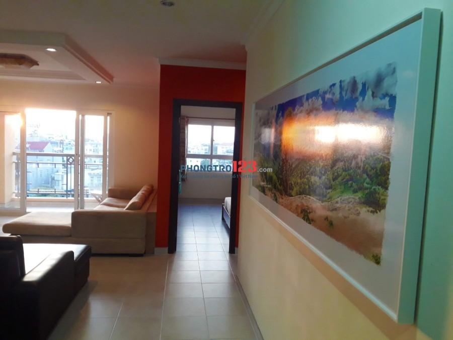Chính chủ cho thuê căn hộ Phúc Yên 1, Q.Tân Bình 122m2 3pn, Full nội thất Ms Diễm