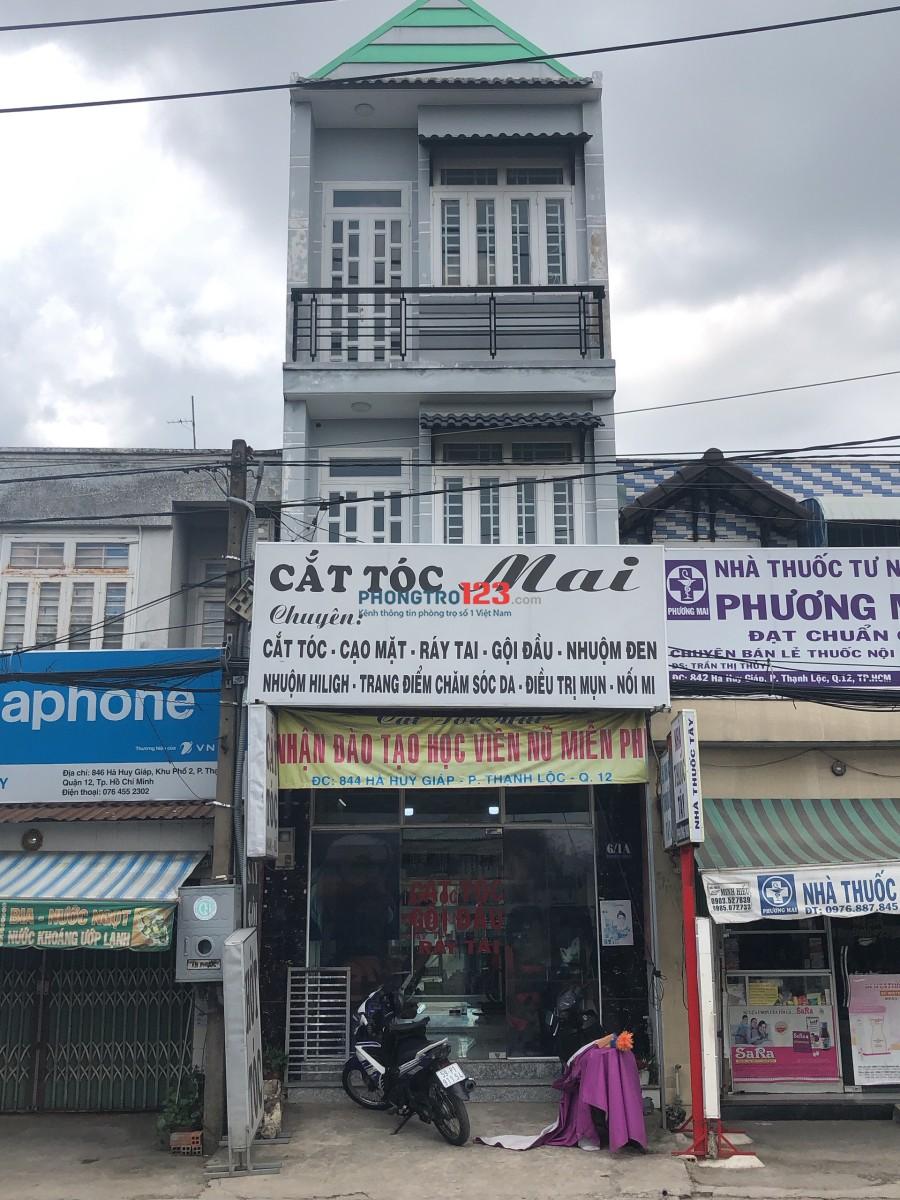 Chính chủ cần sang lại tiệm tóc nhà mặt tiền Hà Huy Giáp, P.Thạnh Xuân, Q.12. LH Mr Hoàng
