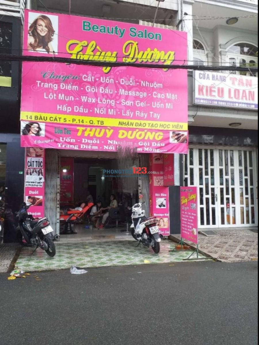 Cần sang lại tiệm tóc nhà mặt tiền nguyên căn 3 lầu Đường Bàu Cát 5, Q.Tân Bình Ms Dương