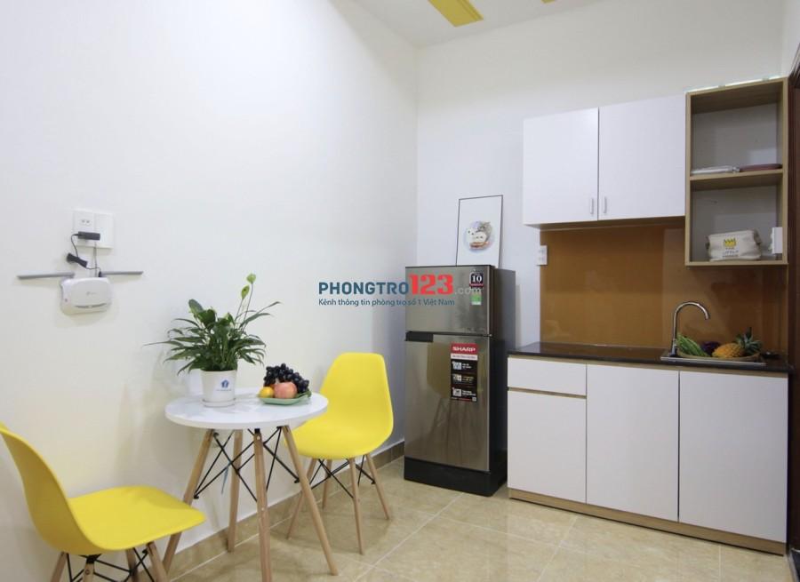 Cho thuê căn hộ đầy đủ tiện nghi mới 100% ở Bành Văn Trân, Tân Bình. Gần Ngã tư 7 Hiền