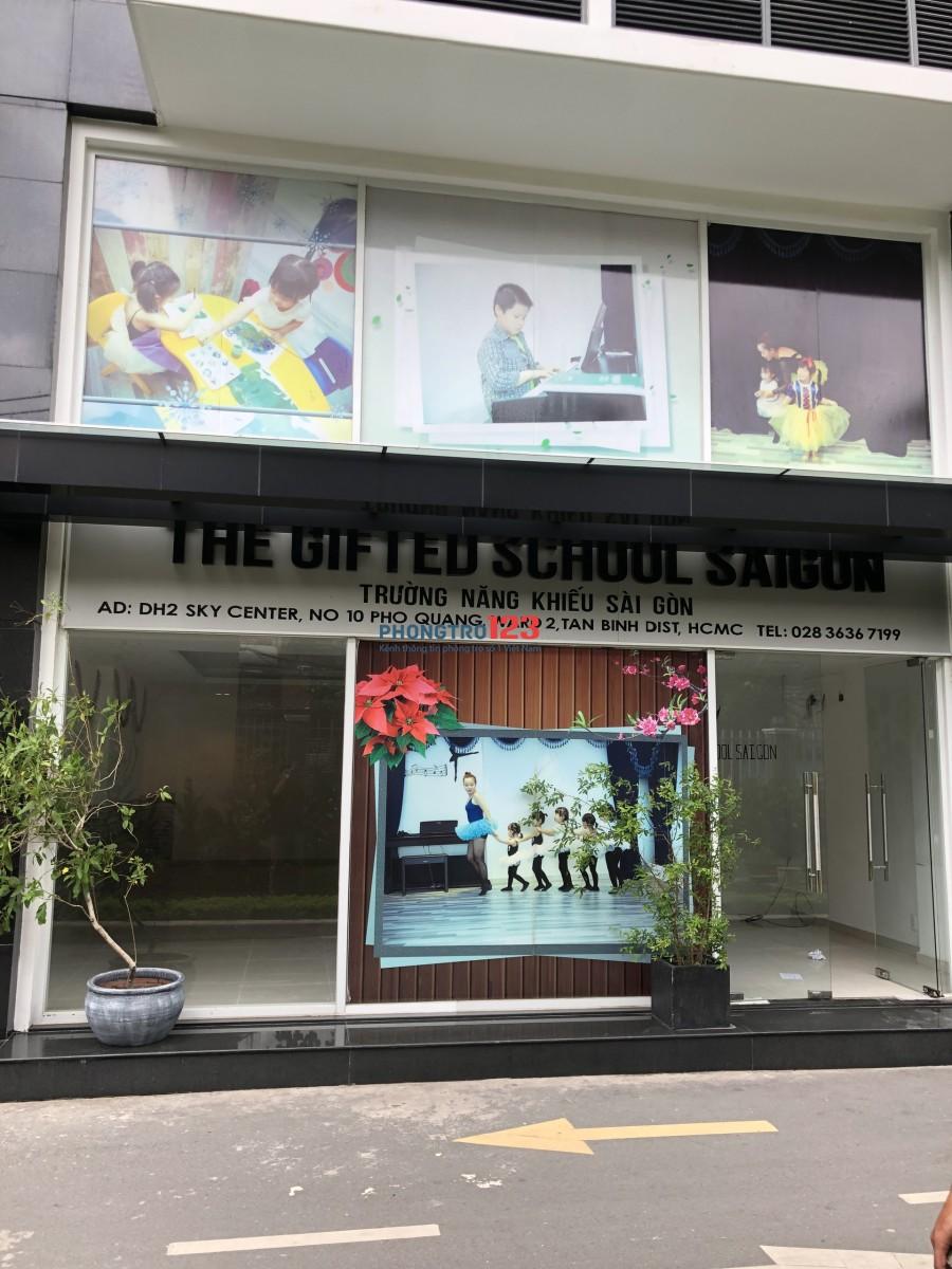 Cho thuê shop Sky Center, Phổ Quang, Tân Bình, 130m2 vị trí đẹp 35tr/tháng