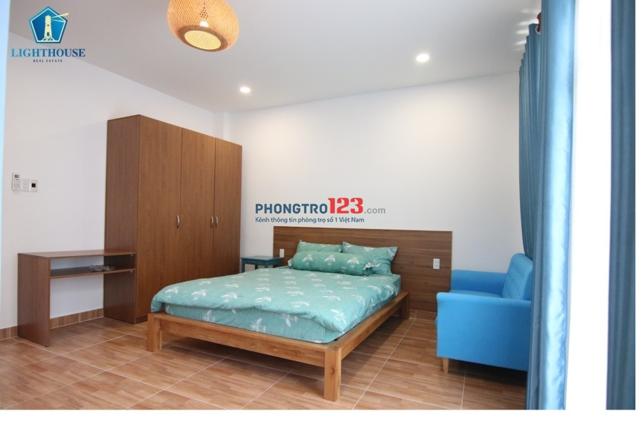 Cho thuê căn hộ cao cấp ở Hoàng Hoa Thám, trung tâm Bình Thạnh. Mới 100% full tiện nghi