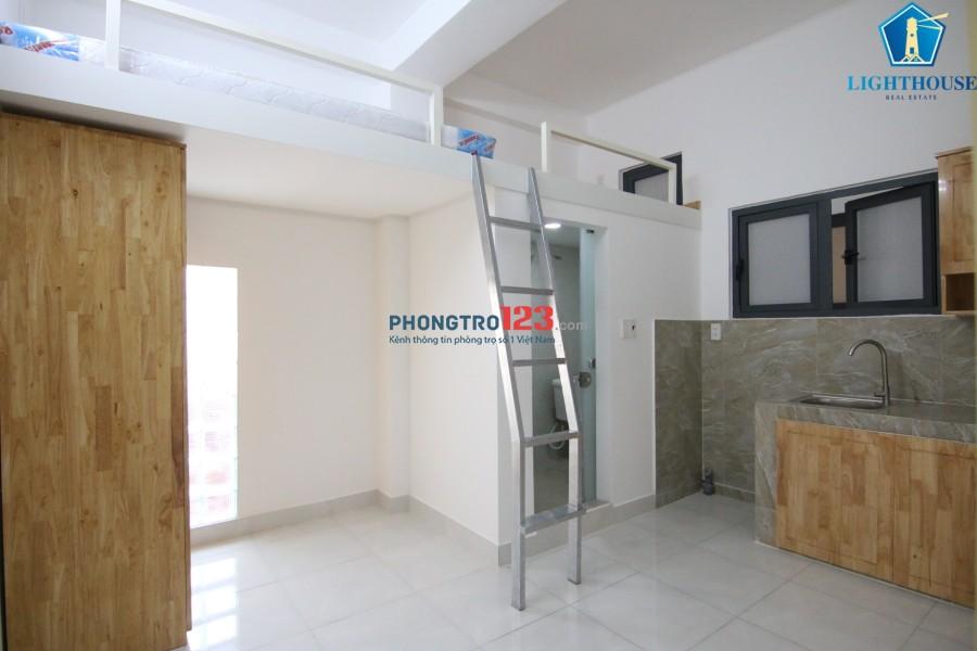Cho thuê căn hộ 25m2 có gác ở trung tâm Bình Thạnh