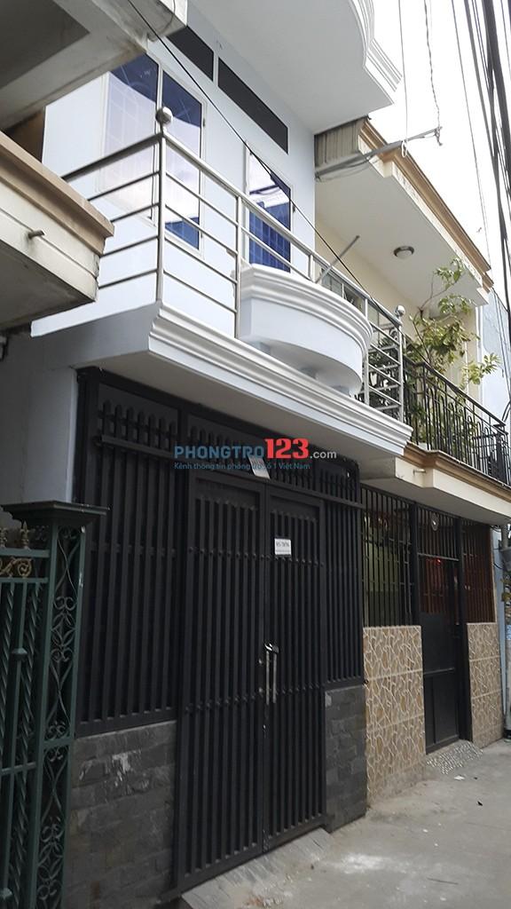 Cho thuê nhà nguyên căn Nhà 1 trệt 1 lầu 52m2, Cầu Tân Thuận 2, Quận 7