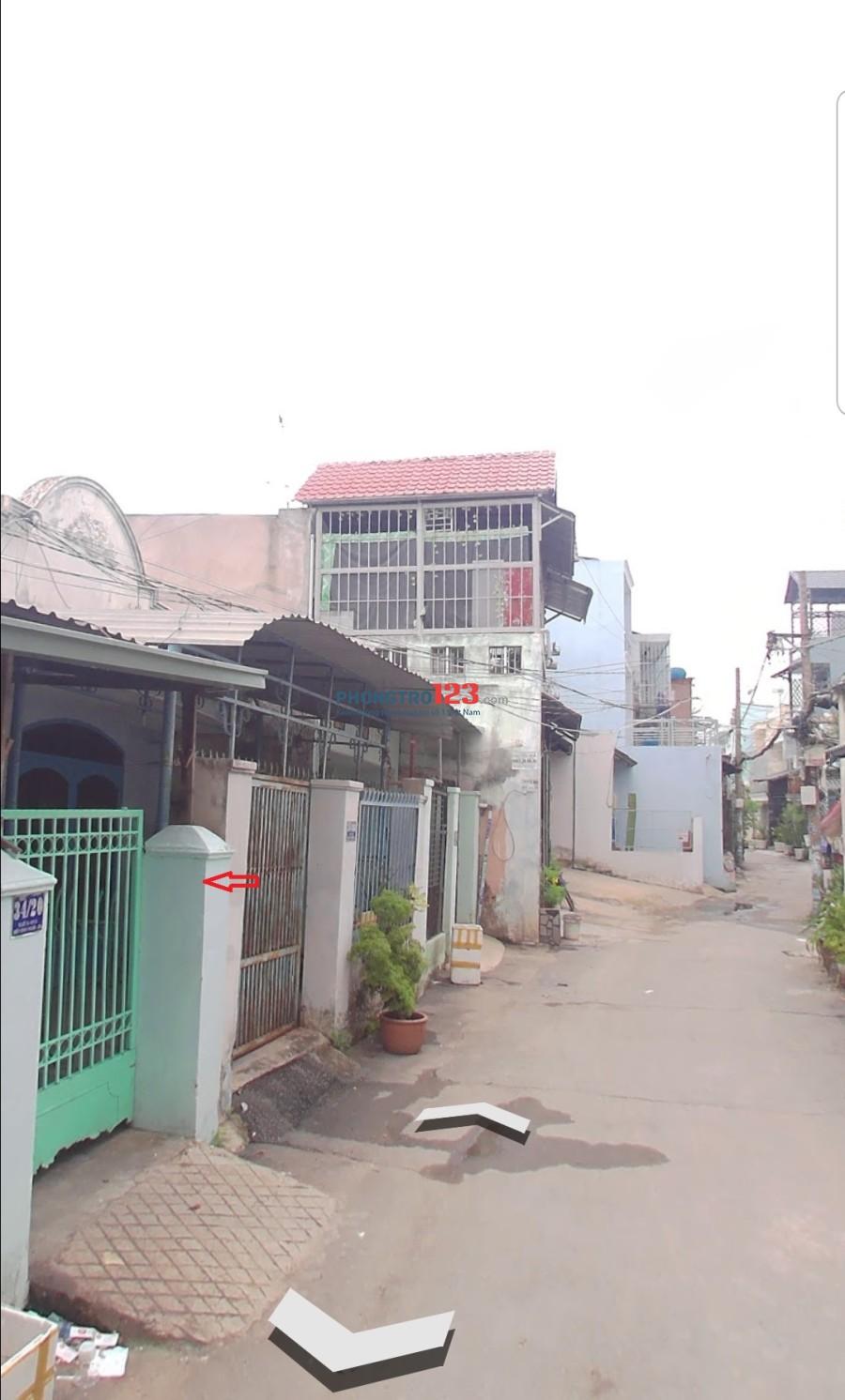 Cho thuê nhà cấp 4-70m2-5tr gần khu Vạn Phúc – Bình triệu