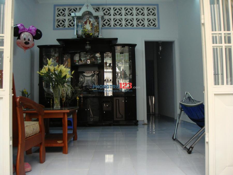 Cho thuê nhà nguyên căn, 1 trệt 1 lầu, gần chợ An Nhơn, Gò Vấp