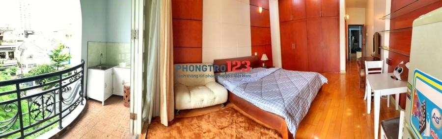 Phòng Cao Cấp Nguyễn Cửu Vân, ngay Cầu Thị Nghè, Hàng Xanh, UEF, HUTECH, Hồng Bàng, full nội thất, ban công, cửa sổ