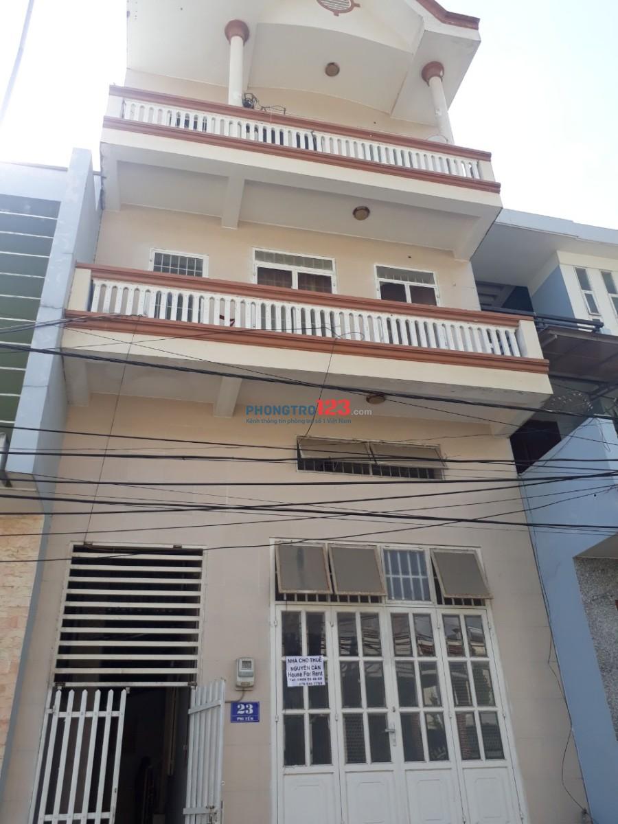 Cho thuê nhà nguyên căn 3 lầu 5x30 Mặt tiền 23 Phi Yến, P.Phước Nguyên, TP.Bà Rịa. Giá 12tr
