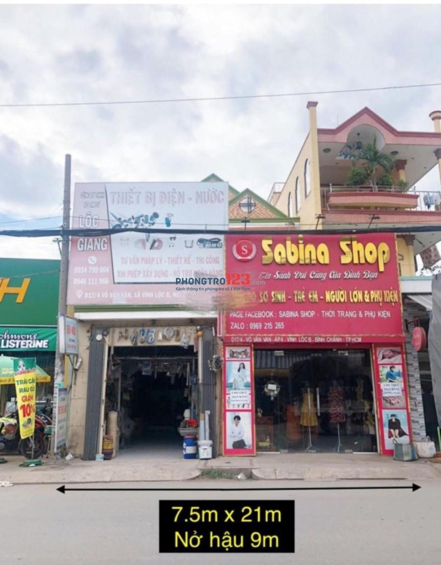 Cho thuê mặt bằng kinh doanh 280m2 mặt tiền Võ Văn Vân, Bình Chánh Mr Tú