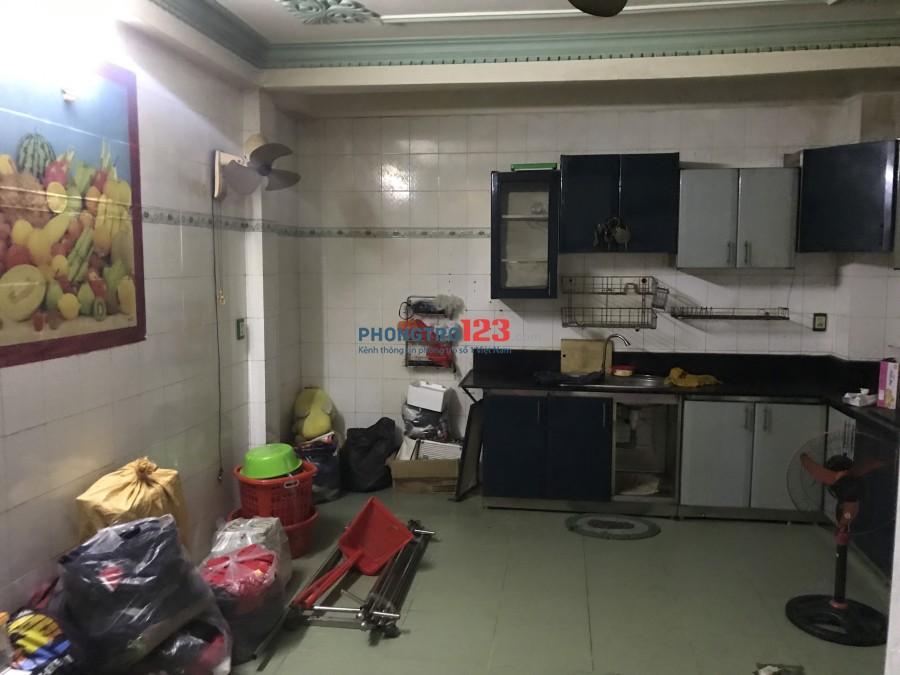 Cho thuê phòng tầng trệt có bếp, 32m2 giờ tự do, máy lanh, wifi free 4tr/th