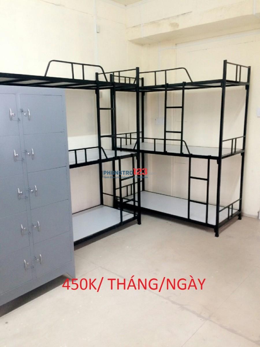 Phòng ở ghép giường tầng máy lạnh, tiện nghi, an ninh, sạch sẽ, gần sân bay TSN