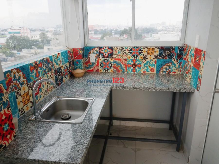 Phòng trọ Bình Thạnh có máy lạnh, máy giặt, nấu ăn riêng, toilet riêng, giờ tự do, có hầm xe