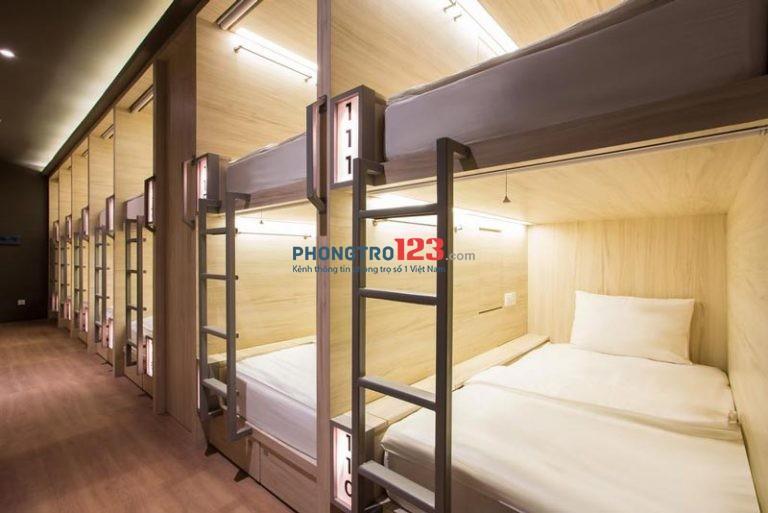 Cho thuê ktx giường cao cấp, có rèm, tủ, máy lạnh, an ninh