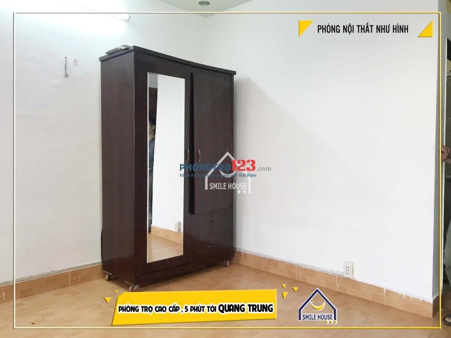 Cho thuê phòng trọ 20m2 đầy đủ nội thất an ninh, yên tĩnh, giá rẻ 54 đường 21, P.8, Gò Vấp