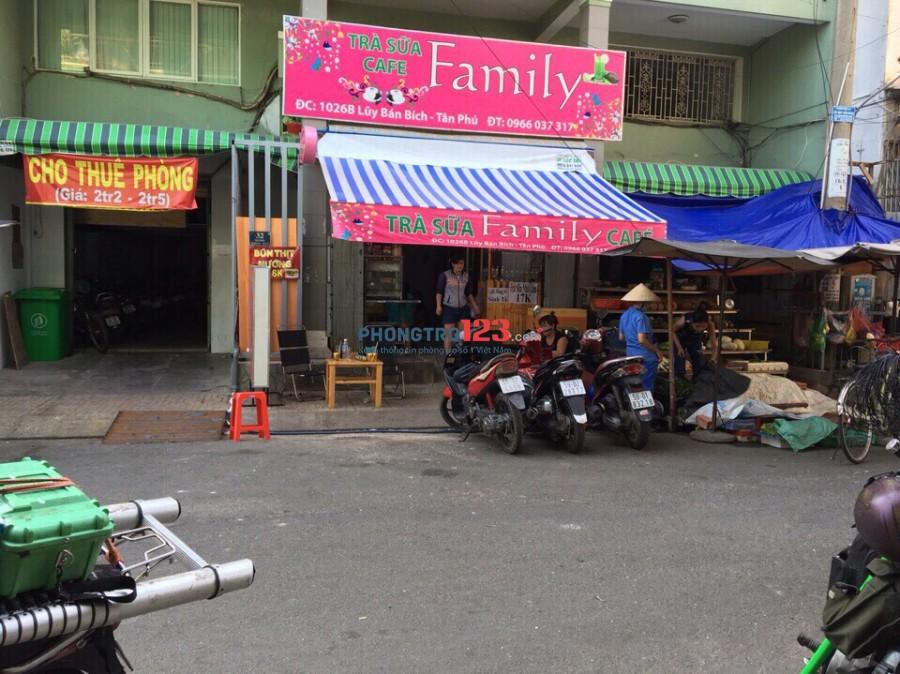 Phòng giá từ 1.8 trd, miễn phí wifi, cáp. Ngay chợ Tân Phú 1