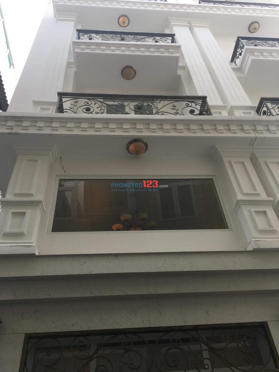 Cho thuê nhà nguyên căn mới xây 4x10 3 lầu hẻm 4m Tại Nguyễn Công Hoan, Q.Phú Nhuận