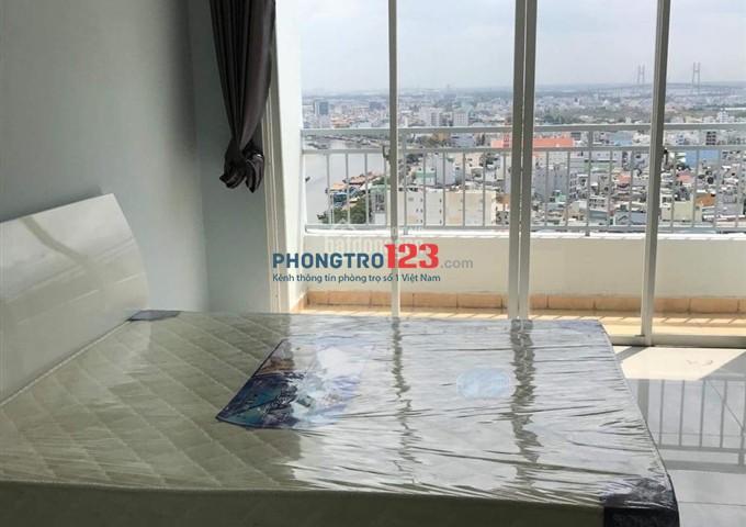 Phòng 28m2 tầng 20 căn hộ Penhouse QCGL 4.5 triệu/ tháng