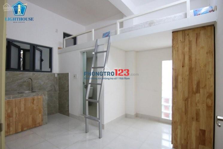 Gác lửng Full nội thất, thoáng mát Gần ĐH Hutech, có bảo vệ, thang máy