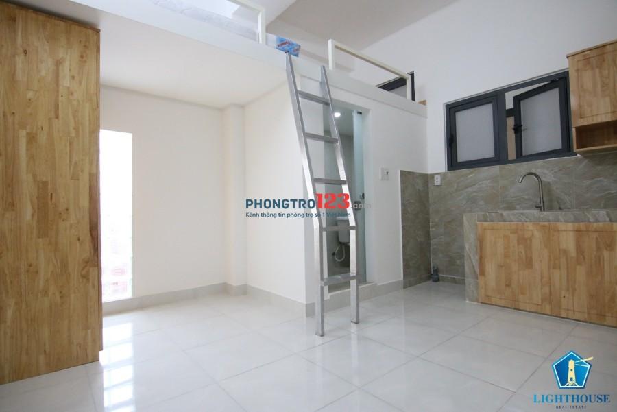 Cho thuê căn hộ mini có gác lửng cực rộng. Bảo vệ 24/24 tại trung tâm Bình Thạnh