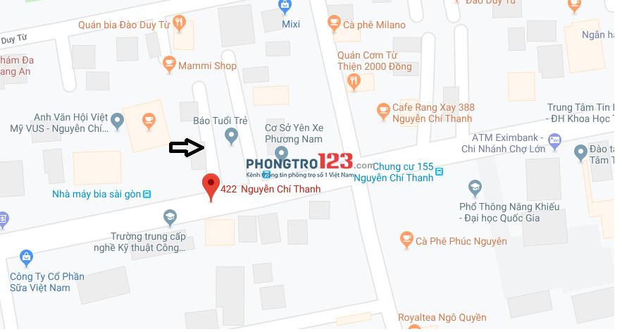 Cho Nam NV-NVVP thuê phòng, nhà Nguyễn Chí Thanh, Q.10