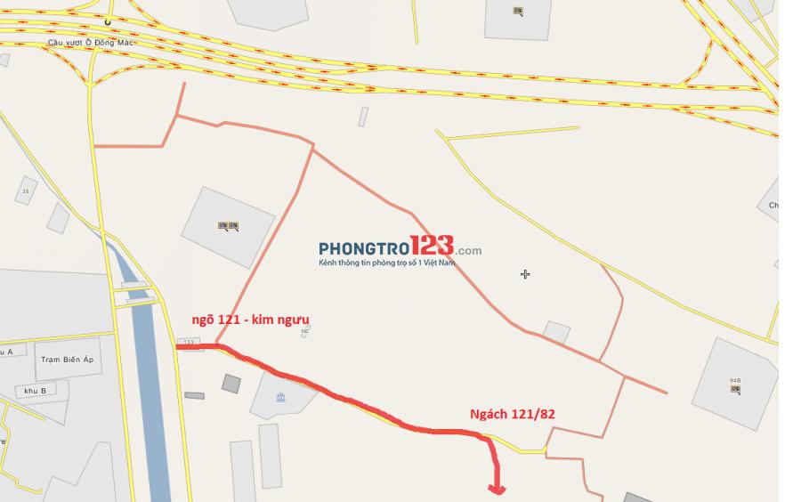 Cho thuê phòng trọ 24m2 - ngõ 121 phố Kim Ngưu - Hà Nội