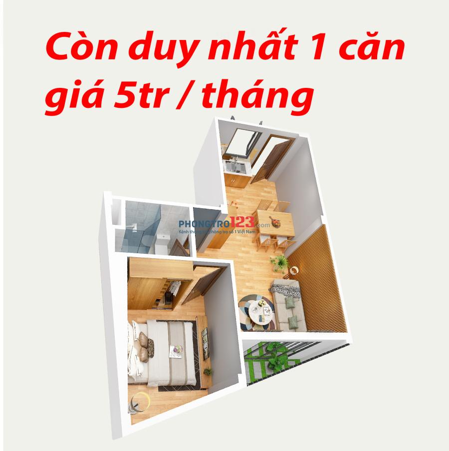 Căn hộ mini full nội thất rẻ như phòng trọ chỉ 5tr/tháng