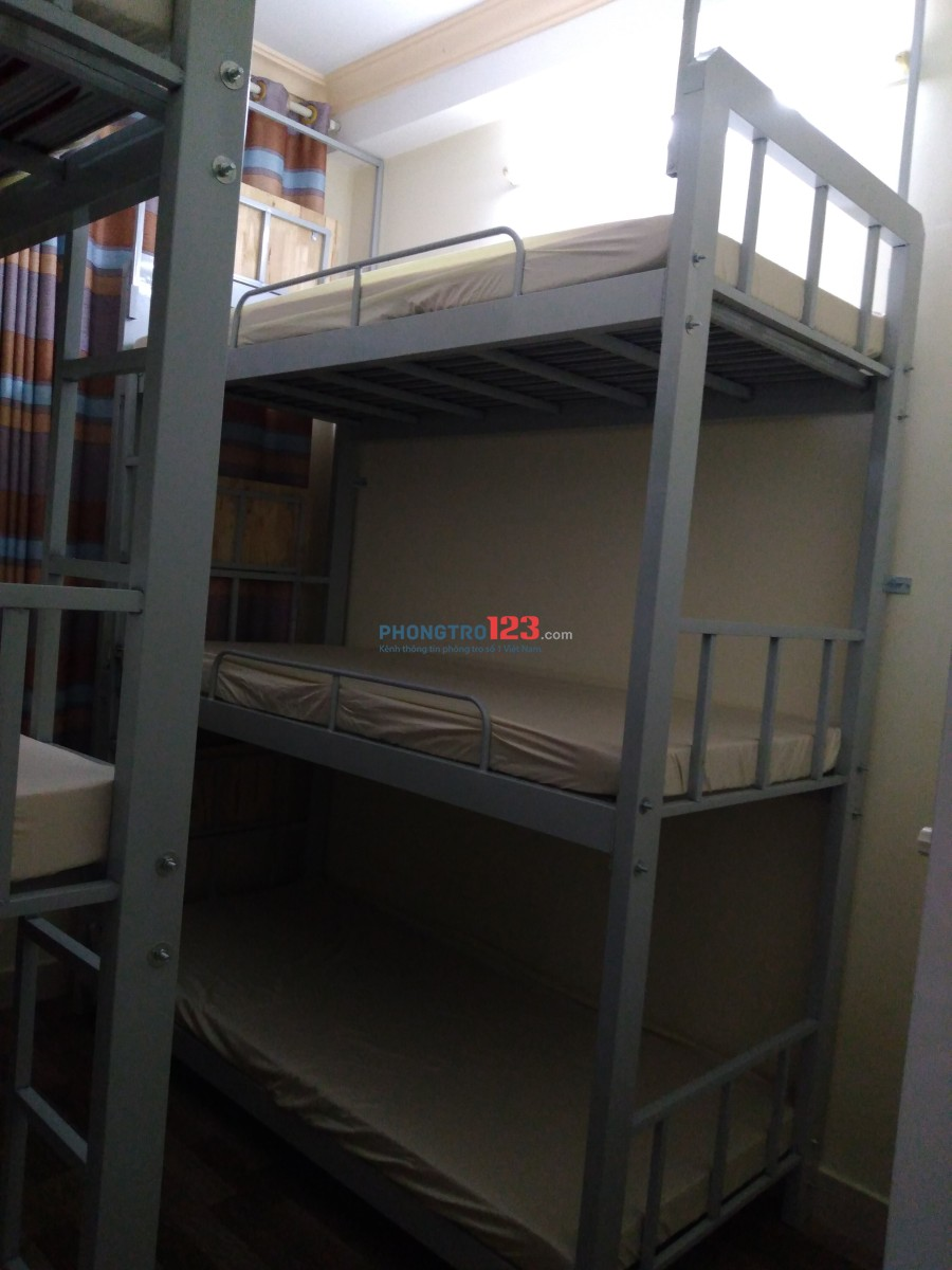 Nguyễn Văn Cừ Q1- Phòng Dorm 4 người máy lạnh full nội thất chỉ 800k trong tháng 2/2020