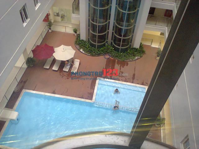 Cho thuê ở ghép giường tầng cao cấp cho sinh viên và nhân viên văn phòng trong căn hộ chung cư The Morning Star. Hồ bơi