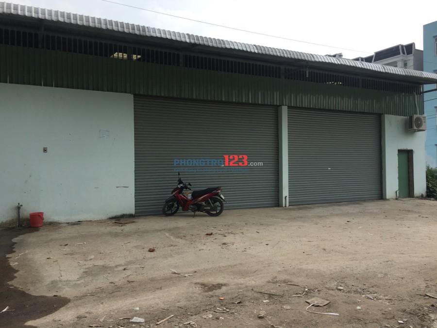 Cho thuê xưởng đường 8m có điện 3 pha, DT 550m2 gần ngã tư Ga, Quận 12