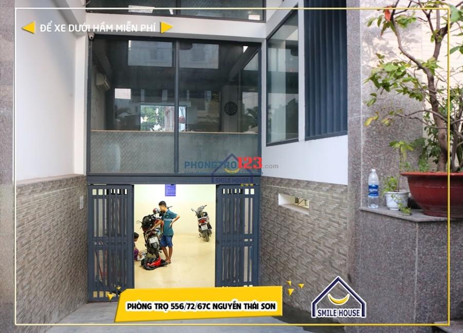 Cho thuê phòng trọ giá rẻ free máy giặt, net, xe 566/72/67C Nguyễn Thái Sơn, P.5, Gò Vấp