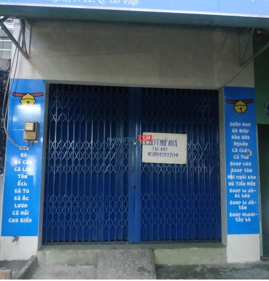 Cho Thuê nhà mặt tiền đường Huỳnh Văn Nghệ