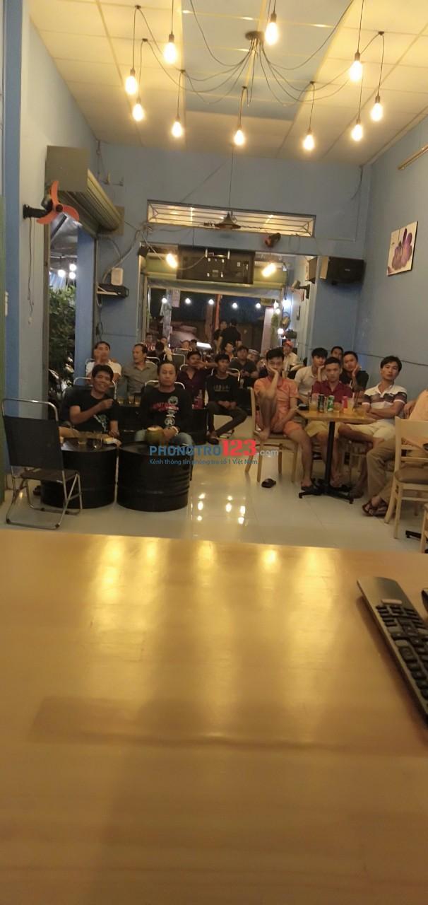 Chính chủ cần sang quán cafe 4x25 mặt tiền 494 Mã Lò, P.Bình Hưng Hòa A, Q.Bình Tân