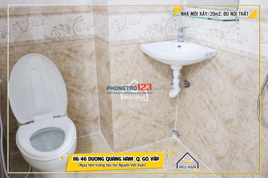 Cho thuê phòng trọ quận Gò Vấp, 116/46 Dương Quảng Hàm, P.5 gần nhà thờ Bến Hải