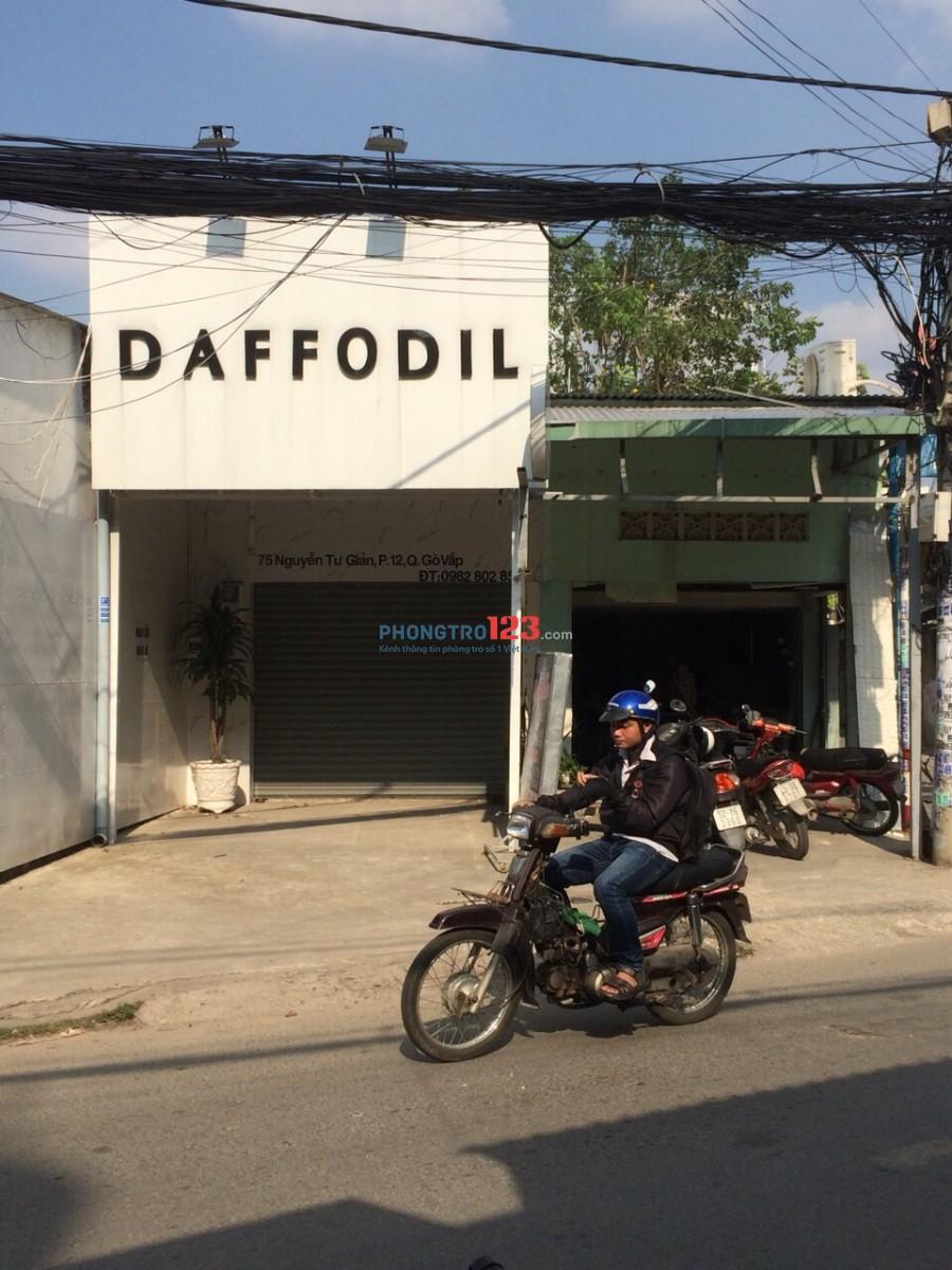 Chính chủ cho thuê nhà 6,5x20 mặt tiền 75 Nguyễn Tư Giản, P.12, Q.Gò Vấp