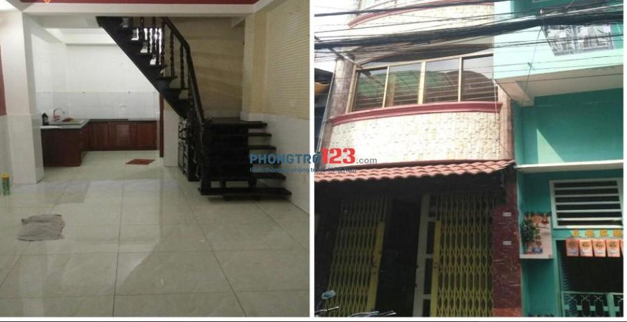 Cho thuê nhà HXH 6m- 4 tầng- 4PN - 17 triệu