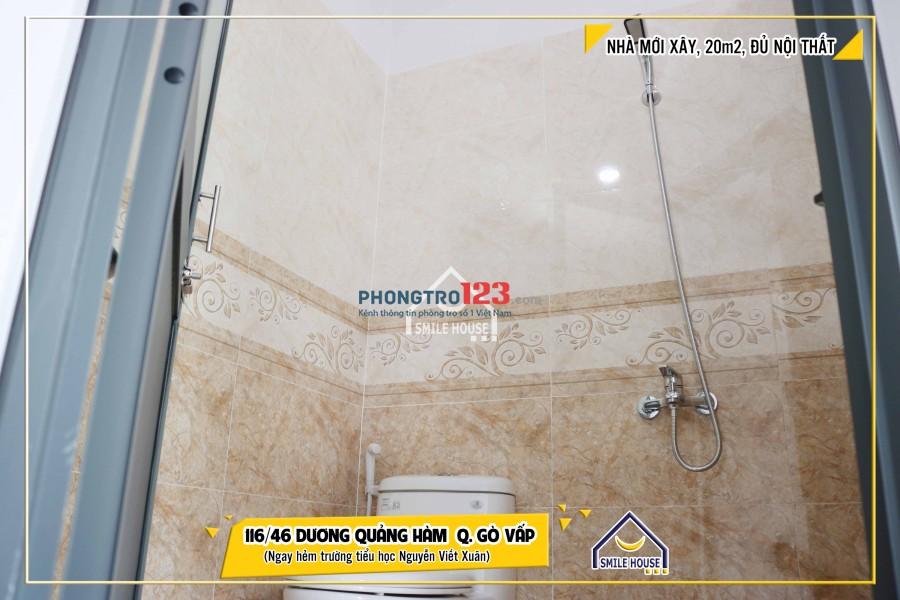 Phòng cao cấp mới xây cho thuê giá rẻ 116/46 Dương Quảng Hàm, P.5, Gò Vấp