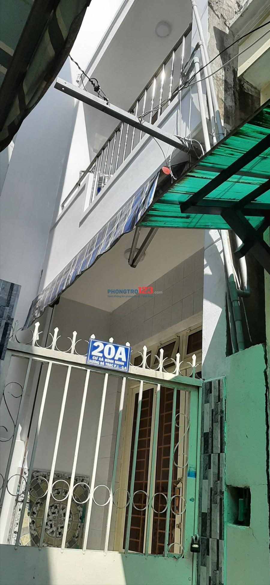 Cho thuê nhà mới nguyên căn Dương Bá Trạc, P.1, Q.8. Ngay chân câu Nguyễn Văn Cừ