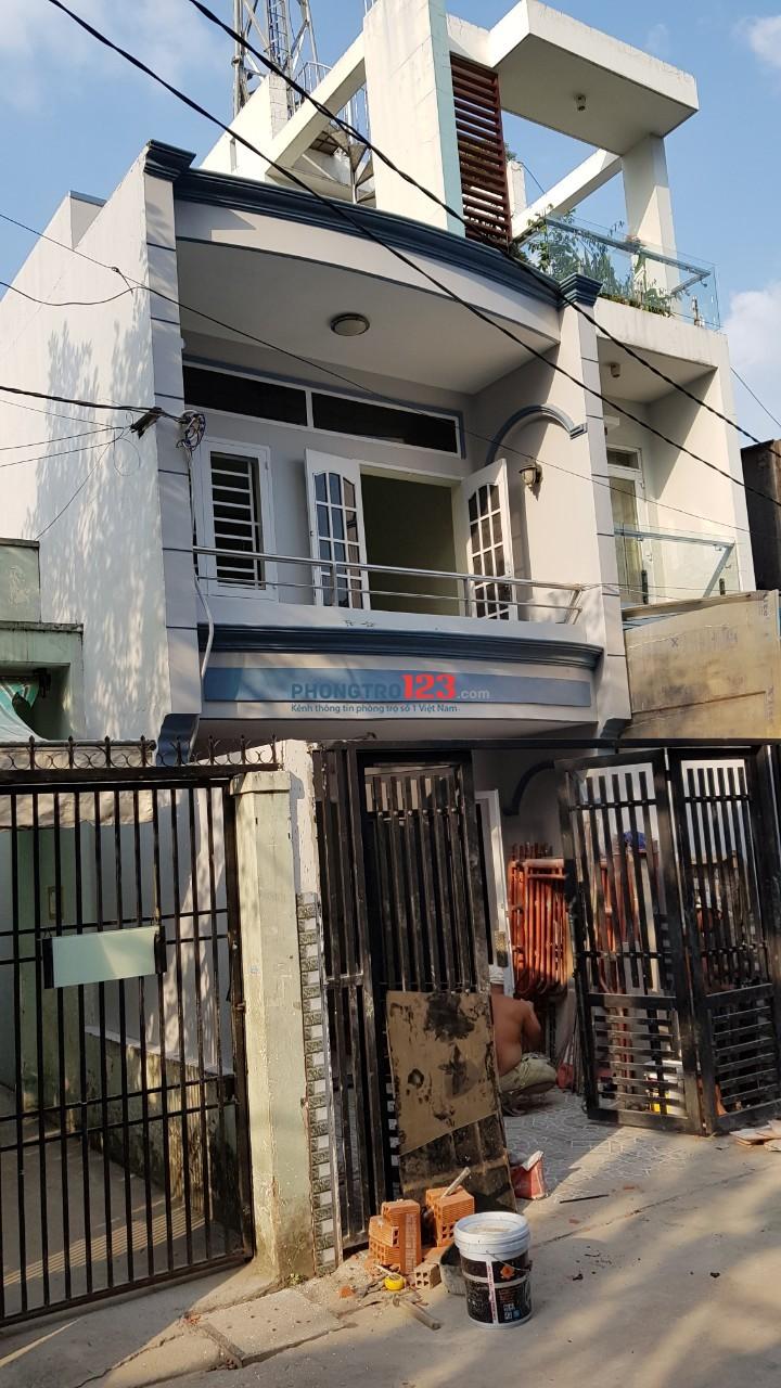 Cho thuê nhà nguyên căn 1 lầu 4x30 tại đường số 8, P.Bình Hưng Hòa A, Q.Bình Tân. Giá 11tr/tháng
