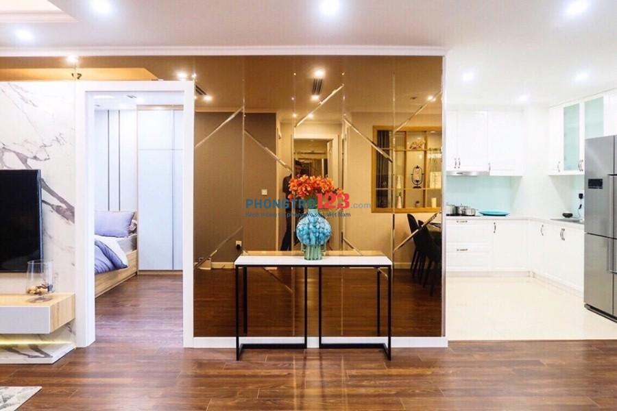 Cho thuê chung cư 93m2 3PN chỉ 13\2tr/th quận Hai Bà Trưng, đồ đạc cơ bản: NL, ĐH, bếp, hút mùi