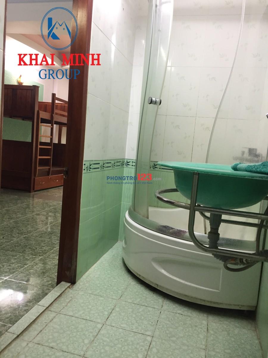 Phòng 50m2 - Máy lạnh, 2 giường tầng, 186 Bình Lợi