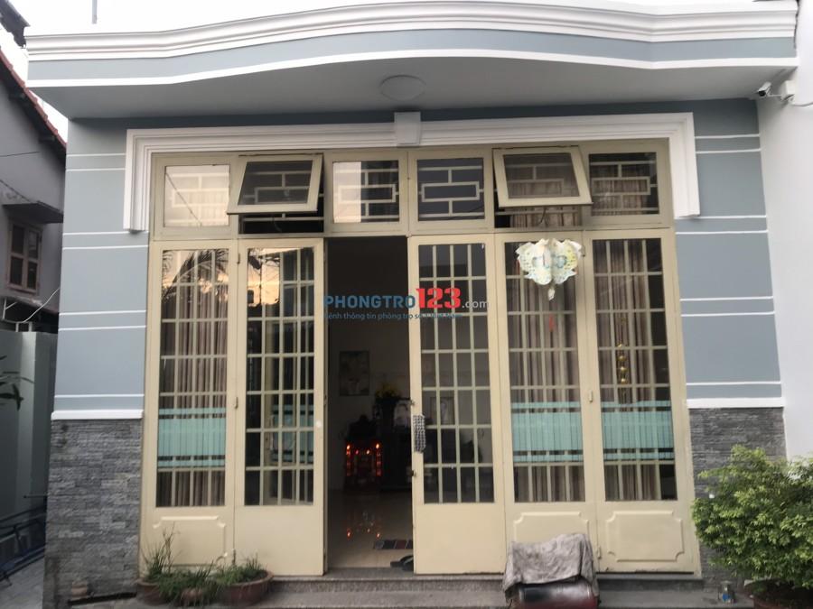 Cho thuê nhà nguyên căn 5,5x12 hẻm xe tải tại 332/5 Nguyễn Oanh, P.17, Gò Vấp. Giá 15tr/tháng