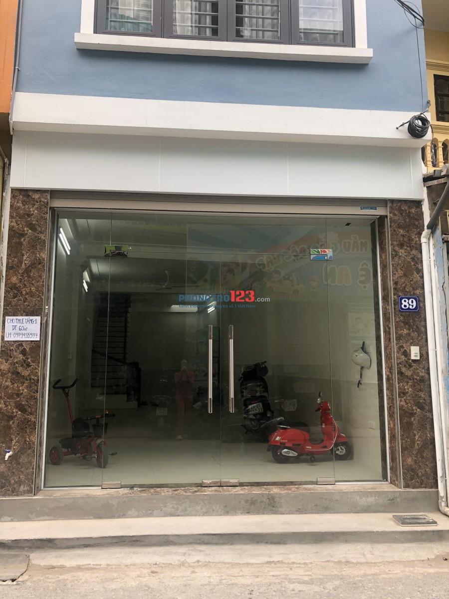 Cho thuê mặt bằng kinh doanh 60m2 quận Thanh Xuân
