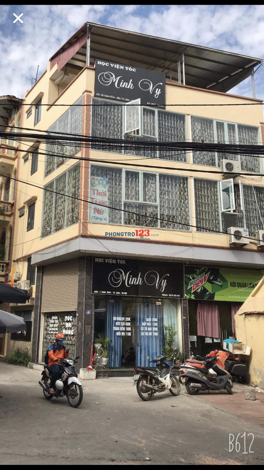 Cho thuê nhà 4 tầng mặt đường, giá cả thương lượng
