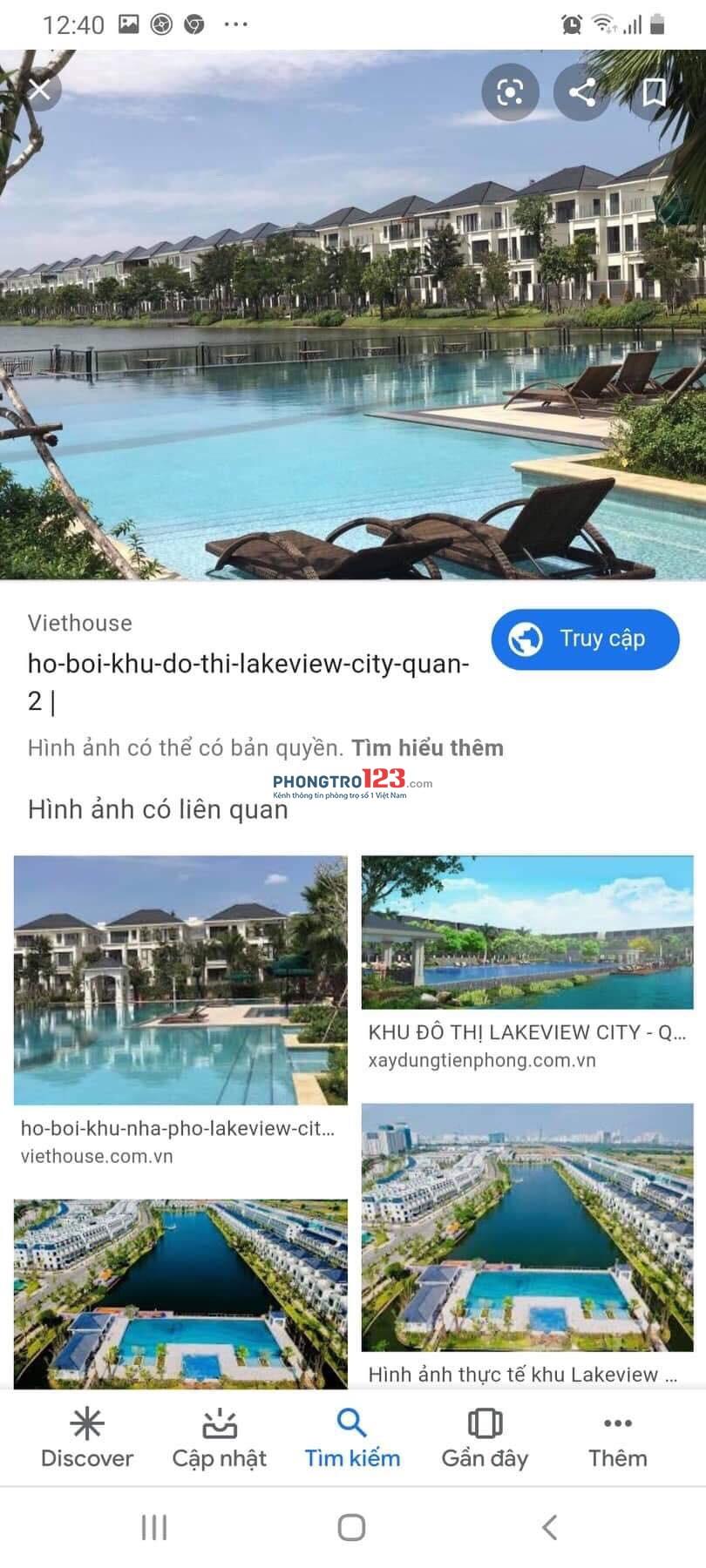 KTX nhà chung Lake View city - 2.2 triệu/giường