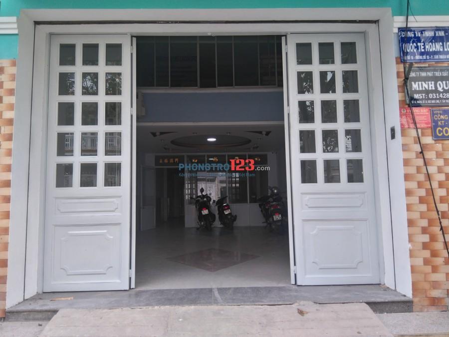 Cho thuê mặt bằng làm văn phòng kdc Nam Long-Trần Trọng Cung quận 7