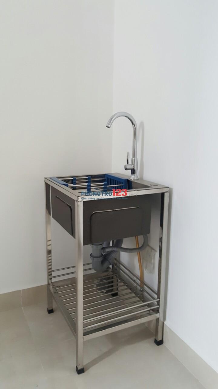Phòng 20m2 Nơ Trang Long, máy lạnh, máy nước nóng… chỉ từ 3.8 triệu
