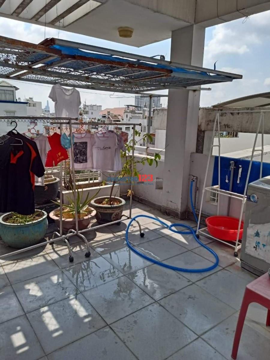 Tìm Bạn nữ Văn phòng ở ghép tại Phú Nhuận (phòng 3 người), phòng rộng 30m2, có sân thượng phía trước