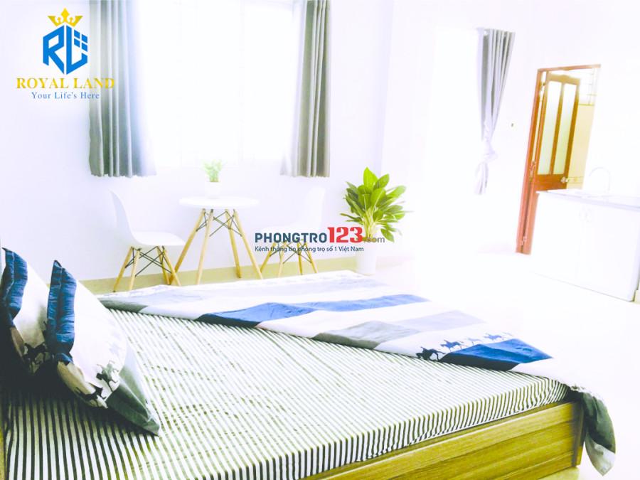 Căn hộ mini đầy đủ nội thất, ban công thoáng mát, bảo vệ 24/24, ngay CMT8 gần chợ Hòa Hưng - Q. 3